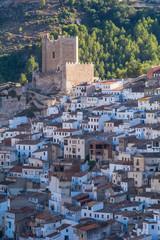 Castillo y casas de Alcalá Del Júcar. Albacete. España