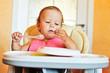 ditry eating baby