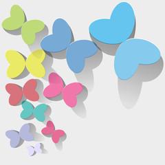 Schmetterlinge bunt pastell