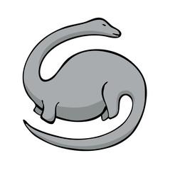 vector illustration of diplodocus dinosaur