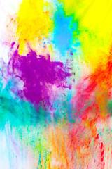 Colored paint holi