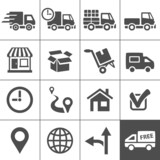 Transportation icons set. Simplus series - 69429154