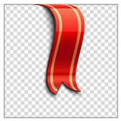 Red bookmark decoration ribbon