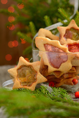 Christmas cookies with caramel windows