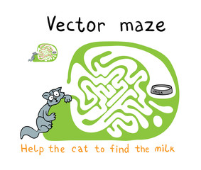 Vector Maze, Labyrinth with Snake.
