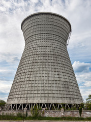 Cooling tower of the cogeneration plant in Kyiv, Ukraine
