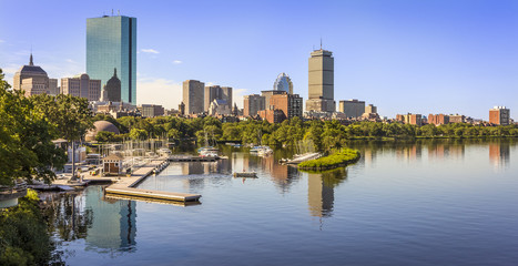 Aerial View of Boston in Massachusetts, USA