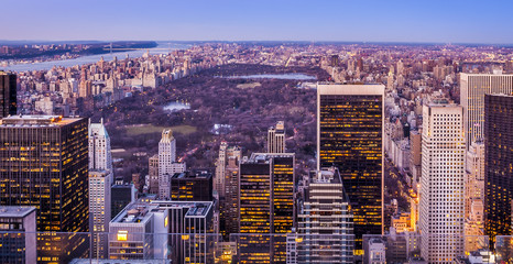 Aerial View of New York in the USA.