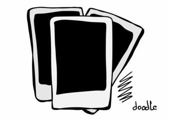 doodle blank polaroid frame
