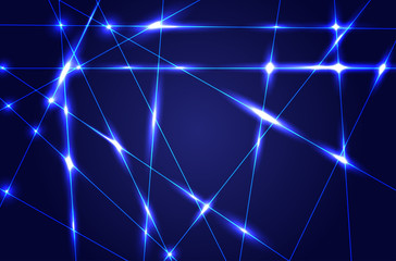 Abstract dark blue background with shiny rays