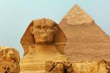 Fototapeta The Sphinx and Pyramids