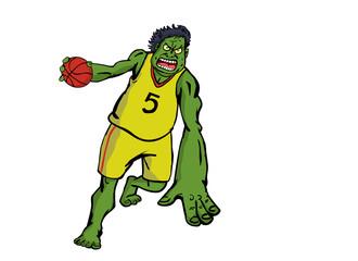 green monster basketball