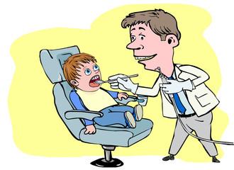 dentist visit young boy