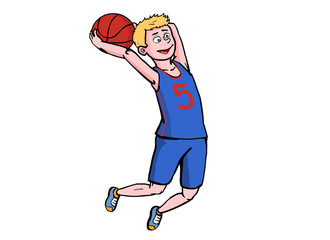 basketball player in air
