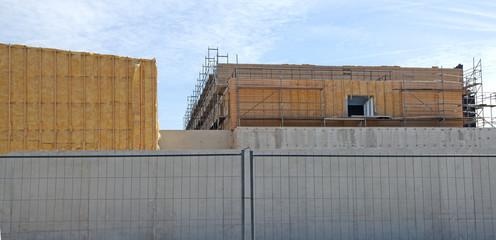 chantier de construction d'un batiment