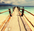 canvas print picture - Beach on Gili