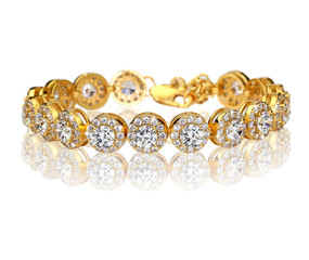 Best gold bracelet with diamonds