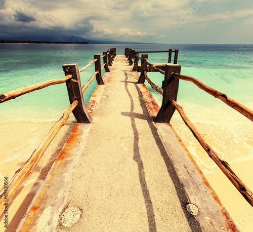 canvas print picture Beach on Gili