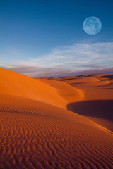moon on desert