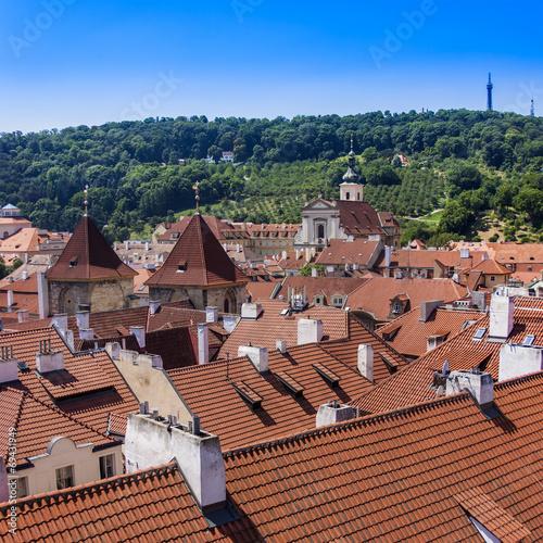 canvas print picture Prague, Czech Republic. View of the city of a survey platform