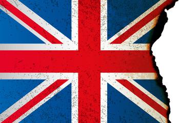 Burnt UK flag