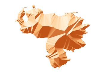 kahve renkli venezuela haritası