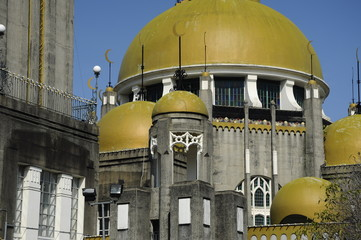 Domes of Sultan Sulaiman Mosque in Klang
