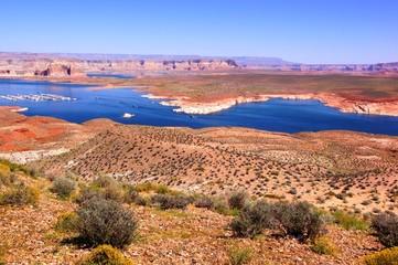 View over Lake Powell near Page, Arizona, USA