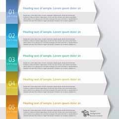 Infographics Web Banner & Label, Arrow Design