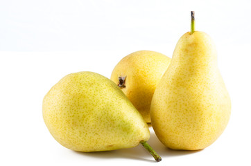 Ripe Pears studio isolated on white background