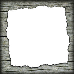 Old wooden background with white center