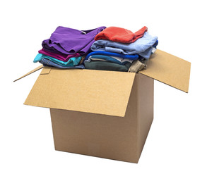 Clothes Folded In Box Shot On Angle