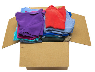 Box Full Of Neatly Folded Clothes