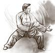Taiji (Tai Chi). An full sized hand drawn illustration - 69434184