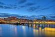 Leinwanddruck Bild - Hafen Kiel
