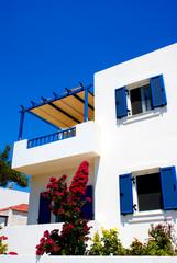 Greek traditional house located at Santorini island