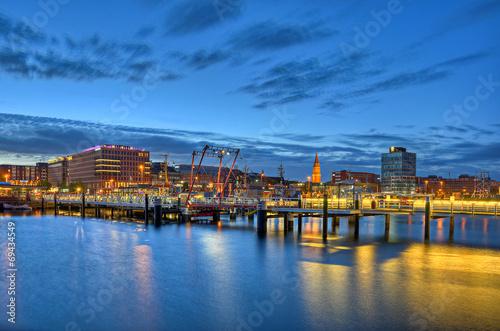 Leinwanddruck Bild Hafen Kiel
