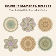 Security elements. Rosette.