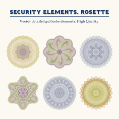 Security elements. Rosette.