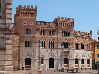 Palazzo Aldobrandeschi in Grosseto, Italy.