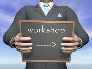 Businessman workshop - 3D render