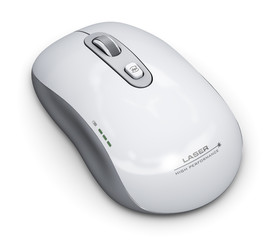 Wireless laser computer mouse
