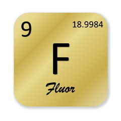 Fluorine element, french fluor