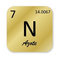 Nitrogen element, french azote