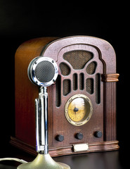 Old Radio and Microphone.