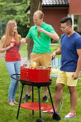 Having fun on a barbecue