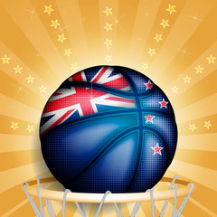New Zealand basket ball, vector