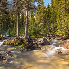 Wasserfall in den rocky mountains