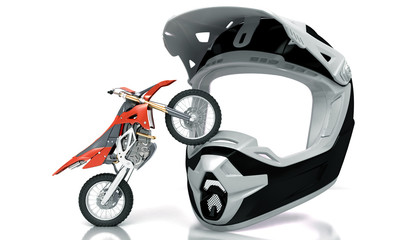 Motocross, casco, enduro, gara