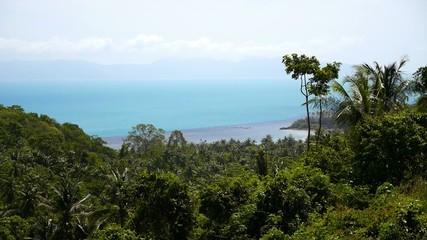 Beautiful Seascape with Sandy Lagoon Beach, Koh Samui Island,